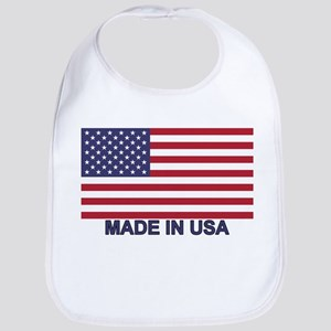 MADE IN USA (w/flag) Bib