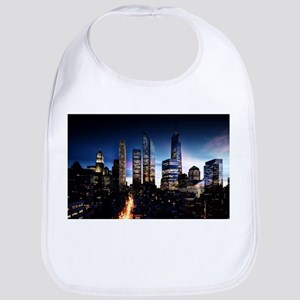 City Skyline at Night Bib
