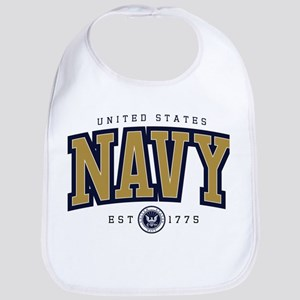 United States Navy Athletic Cotton Baby Bib