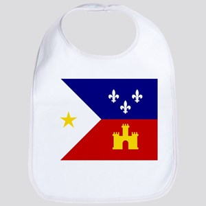 Flag of Acadiana Louisiana Baby Bib