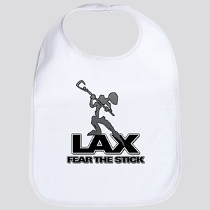 Abstract LAX Fear The Stick Bib