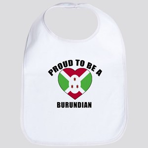 Burundian Patriotic Designs Cotton Baby Bib