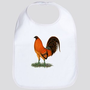 Gamecock Ginger Red Rooster Baby Bib