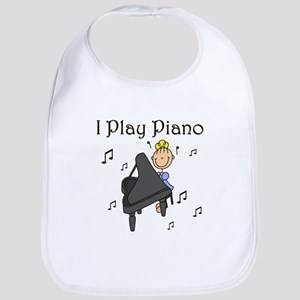 I Play Piano Bib