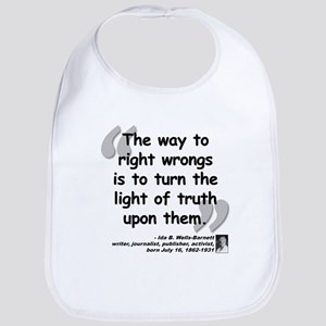 Wells Truth Quote Bib