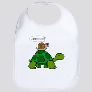 Snail on Turtle Bib