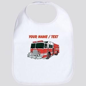 Custom Red Fire Truck Bib