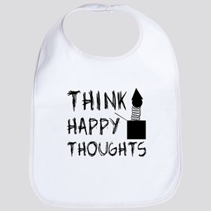 Think Happy Thoughts Bib