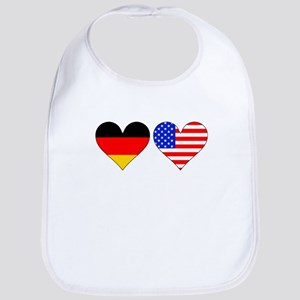 German American Hearts Bib