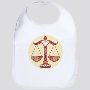 Libra zodiac sign Bib