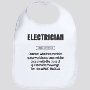 Funny Electrician Definition Baby Bib