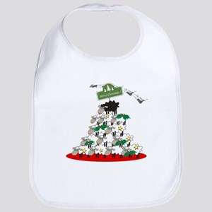 Funny Sheep Christmas Tree Bib