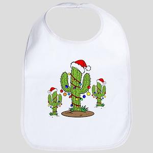 44caa0242 Christmas Cactus Baby Bibs - CafePress