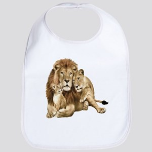Lion And Cubs Bib
