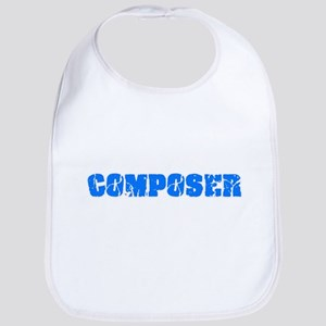 Composer Blue Bold Design Baby Bib