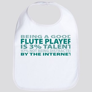 Good Flute Player Bib