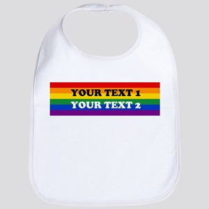 Personalize Cute Rainbow Bib