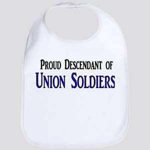 Proud Descendant Of Union Soldiers Bib