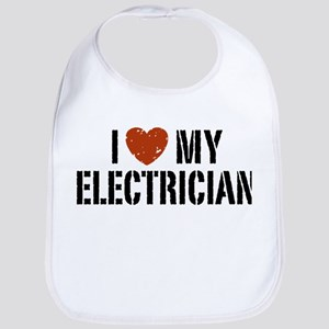 I Love My Electrician Bib