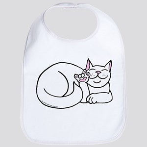 White ASL Kitty Bib