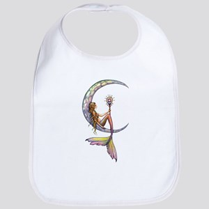Mermaid Moon Fantasy Art Baby Bib