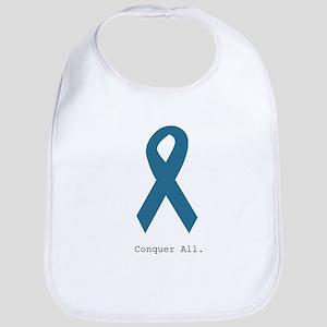 Conquer All. Teal Ribbon Bib
