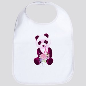 Breast Cancer Panda Bear Bib
