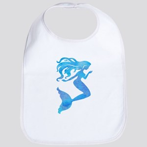 Watercolor Mermaid Baby Bib