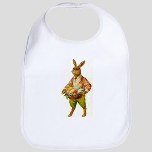 Antique Easter Bunny Basket Gift Baby Bib