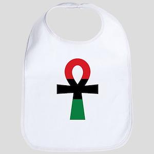 Red, Black & Green Ankh Bib