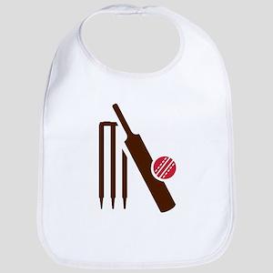 Cricket bat stumps Bib