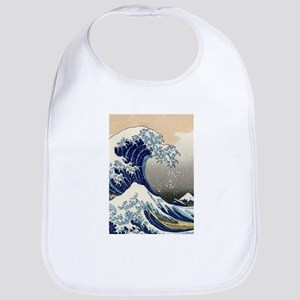 Japanese Woodcut -- Mount Fuji Wave by Hokusai Bib