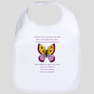 A Child Is Like a Butterfly-  Bib