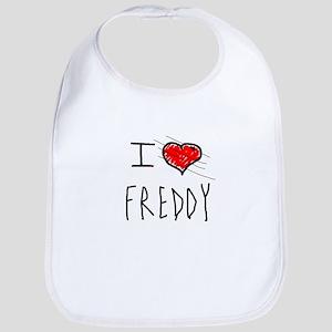 i love Halloween Freddy Bib