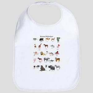 Animal pictures alphabet Bib