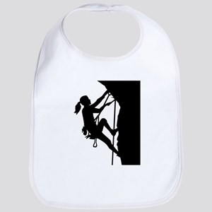 Climbing woman girl Bib