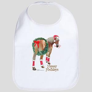 Christmas Draft Horse Belgian Bib