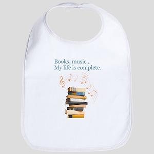 Books and music Baby Bib