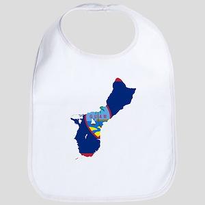 Guam Flag and Map Bib