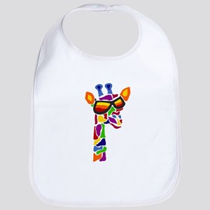Giraffe in Sunglasses Bib