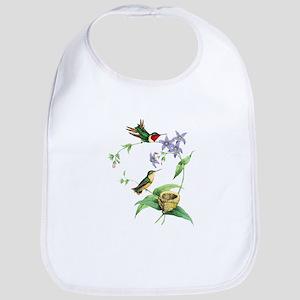 Hummingbirds Cotton Baby Bib