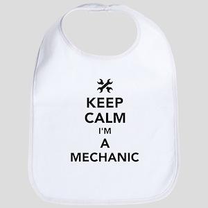 Keep calm I'm a mechanic Baby Bib