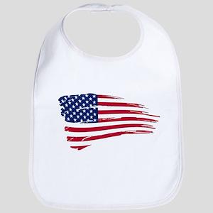 Tattered US Flag Bib