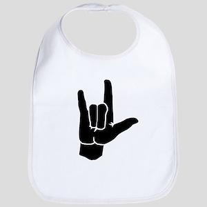 I LOVE YOU (in sign language) Bib