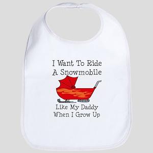 Ride A Snowmobile Like Daddy Bib