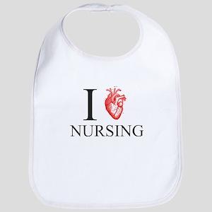 I Heart Nursing Bib