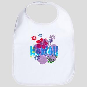 Hawaii Hibiscus Cotton Baby Bib