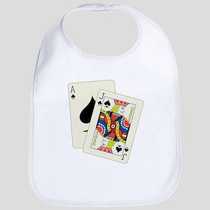 gambling7Black Baby Bib