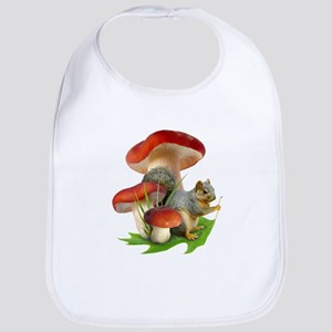 Mushroom Squirrel Bib