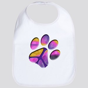 Peaceful Paw Print Bib